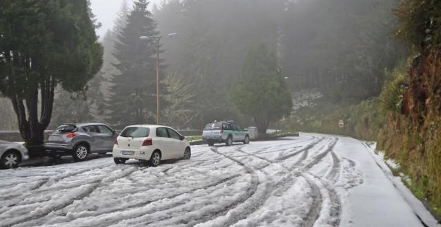 Neve na Ilha da Madeira