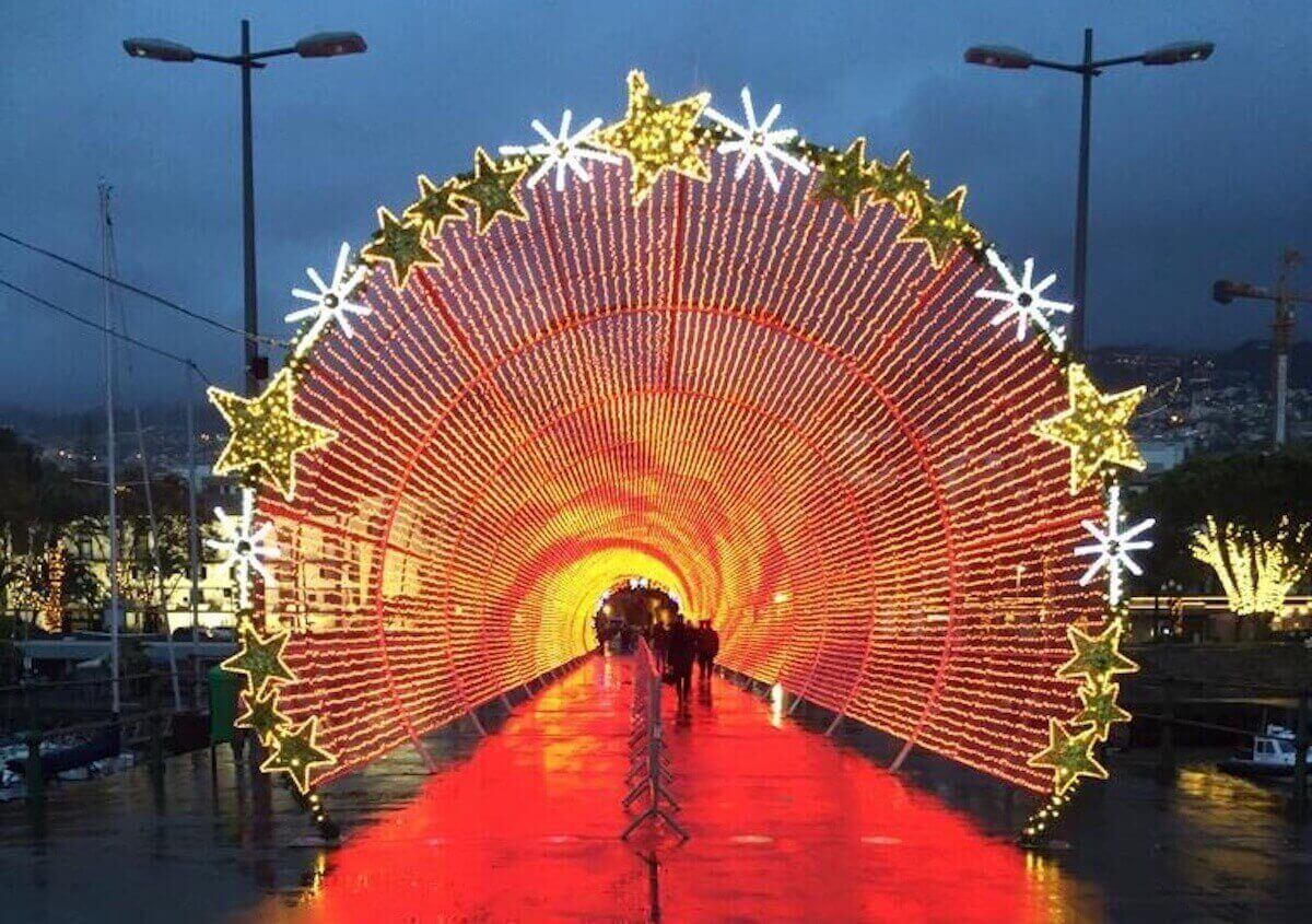 3.Illuminations inBaixaCitadina andAnfiteatro doFunchal